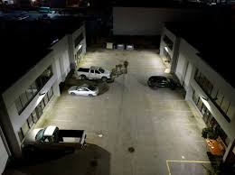 it series led parking lot light project in canada wall mounted