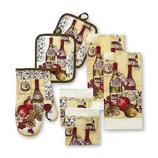 Wine Themed Kitchen Set by Best 25 Kitchen Linens Sets Ideas On Curtains For
