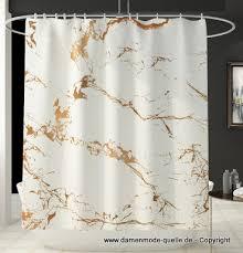 badezimmer duschvorhang in weiss gold