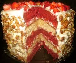Haute Heirloom Red Velvet Strawberry Shortcake Layer Cake with