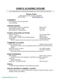 Example Of Making Cv New Good Resume Examples Unique For Highschool Students
