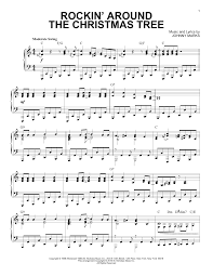 Rockin Around The Christmas Tree Piano Chords by Sheet Music Digital Files To Print Licensed Piano Solo Digital