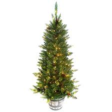Pre Lighted Christmas Trees by E9 5 Ft Pre Lit Christmas Tree In Whisky Barrel At Home At Home