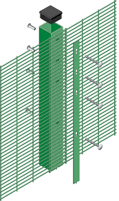 The Drawing Of Anti Climb Fence Installation Including Fencesafe Securus Lite High Level Security Temporary Fencing 358