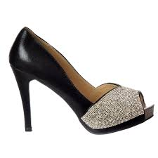 onlineshoe diamante encrusted peep toe mid heel party shoe gold