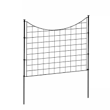 Decorative Garden Fence Home Depot by Galvanized Metal Fence Panels Metal Fencing The Home Depot