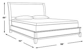 Claymore Park f White 3 Pc King Panel Bed Beds White
