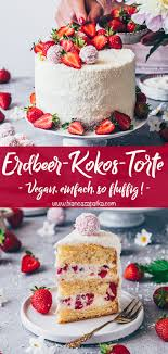 Hochzeitstorte Mit Erdbeeren Und Limetten Erdbeer Kokos Torte