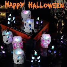 YUNLIGHTS 6ft Halloween Inflatable Ghost Portable Terrible Lanterns IndoorOutdoor Yard Garden Decoration With LED Lights Includes Stakes And Tethers