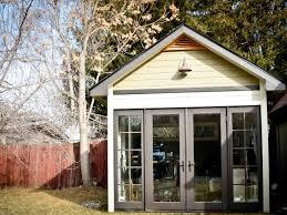 backyard office for ladybug press idaho wood sheds storage