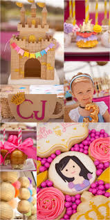 Pink And Gold Birthday Themes by Pink Gold Princess Tea Party Pizzazzerie