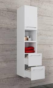 vcm hochschrank badezimmerschrank vcb 8 sentas schubladen holz badmöbel hochschrank vcb 8 schublade farbe weiß