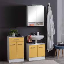 möbel badezimmer in gelb weiß envilia 3 teilig