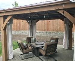 Outdoor Patio Curtains Ikea by Outdoor Privacy And Decor Pergola Curtains U2014 Boyslashfriend Com