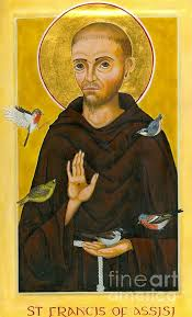 icon of st francis of assisi canvas print canvas by juliet