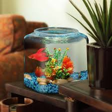Star Wars Fish Tank Decorations by Hawkeye 2 Gallon Fish Bowl Hex Shaped Shatterproof Plastic 9 25
