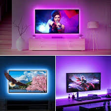 le led tv hintergrundbeleuchtung 2m rgb led fernseher beleuchtung for 35 65 zoll hdtv pc monitor upgrade rf fernbedienung dimmbar farbauswahlen und