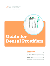 bureau workers comp ohio bureau of workers comp dental providers fill