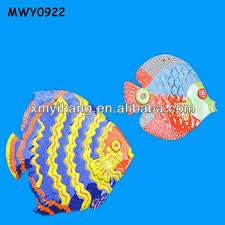 Colorful Fat Fish Design Wall Hanging Craft For Kids