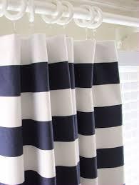 blue and white horizontal striped shower curtain integralbook com
