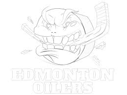 Printable Edmonton Oilers Coloring Sheet