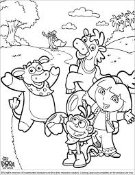 Dora The Explorer Coloring Page And Friends Waving Hello