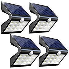 innogear upgraded solar lights 30 led wall light outdoor security