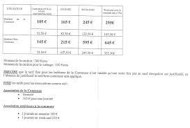 tarif salle des fetes germain sous doue site de la commune
