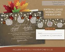 Rustic Fall Wedding Invitations Set With Paper Lanterns