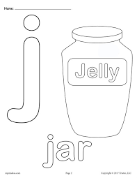 Lowercase Letter J Coloring Page