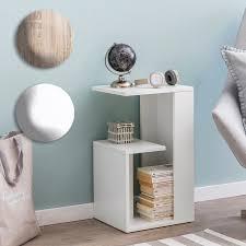 finebuy beistelltisch 35x61x30 cm holz design anstelltisch sofa couchtisch klein modern kleiner wohnzimmertisch eckig sofatisch ablagetisch hoch