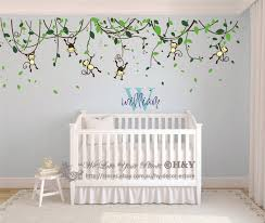 Ebay Wall Decoration Stickers by Custom Personalised Name Monkey Vine Wall Art Stickers Kids