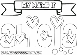 Free Printable Coloring Pages Your Name