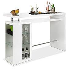 bar hausbar cocktailbar bartheke dekor weiß hochglanz glaseinlegeböden