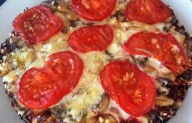 pizza viande hachée tomate et fromage sans pâte recette dukan