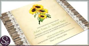 Idea Sunflower Wedding Invitations Templates For As Well Rustic