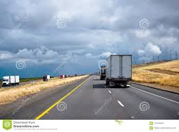 100 Directions For Trucks Convoy Of Big Rigs Semi With Trailers In Both