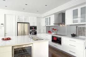 Kitchens With White Appliances Cabinets And