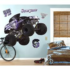 Monster Jam Wall Stickers Is So Famous, But Small Home Ideas - Super ... Monster Truck Bedding Queen Size Bedroom Blazethe Machines Blue Wall Sticker Cool Vehicle Decal Boys Unique Purple Toddler Bed With Staircase Set In Brown Hot Wheels Jam 164 Assorted The Warehouse Personalised Name Or Girls Flag Racing Decor Hotwheels 68501 8 Lovely Hot Wheels Matchbox Cars 12 Creative For 2018 Home Design Interior Grave Digger In Pinterest Room Monster Truck Birthday Party Ideas Moms Spiderman Diecast Metal Walmartcom