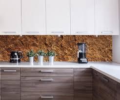 küchenrückwand stein gelb rote farbe nischenrückwand spritzschutz fliesenspiegel ersatz deko küche m1054