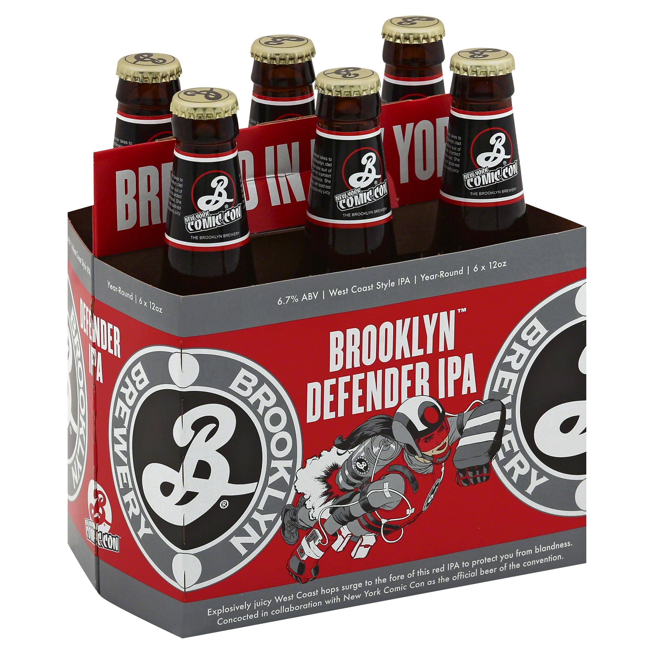 Brooklyn Defender IPA - 6 pack, 12 fl oz bottles