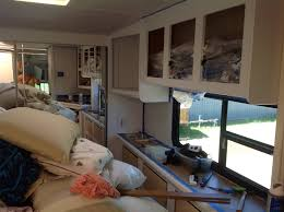 5th Wheel Campers With Bunk Beds by Renovating Our 5th Wheel Camper A Diy Follow The High Line Home