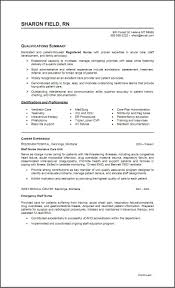Sample Icu Rn Resume Samples Clinical Nurse Examples Of
