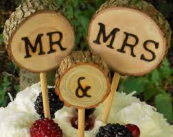 Rustic Wedding Cake TopperWedding Topper Tree Slice Wood