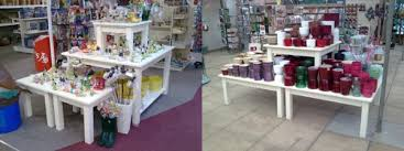 18mm MDF Stackable Display Tables Mix And Match Different To Create Simple Attractive Ways Of Displaying Merchandise
