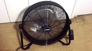 Lasko Floor Fan Home Depot by Lasko 20 Inch Three Bladed High Velocity Fan Model Youtube