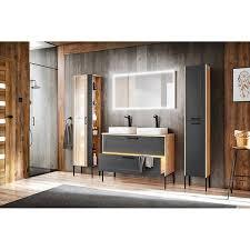 badezimmer led spiegel 120 cm matera 56 matt schwarz b h t ca 123 68 3 cm