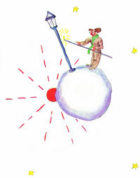 le petit prince au bureau the llighter asteroid b 329 the prince is initially
