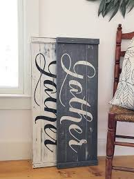 GATHER SIGN Rustic Gather Sign Wood Large Dining