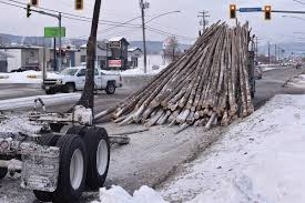 100 Logging Truck Accident Truck Loses Logs On Cranbrook St Kimberley Daily Bulletin